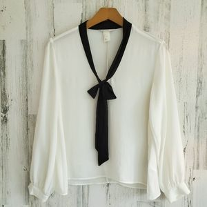 H&M Bow Blouse